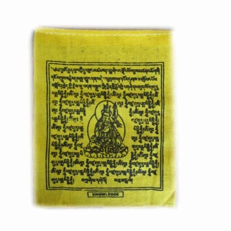 Drapeaux de prières bouddhistes tibétains - (0) Coton - Noir - 2353 1 Jaune