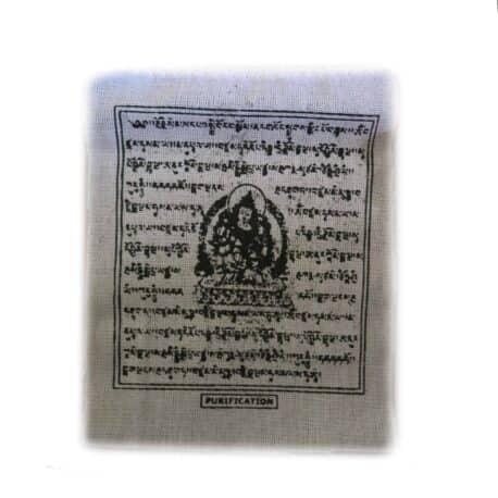 Drapeaux de prières bouddhistes tibétains - (0) Coton - Noir - 2353 - Blanc Purification