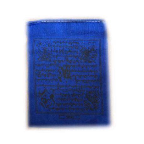 Drapeaux de prières bouddhistes tibétains - (0) Coton - Noir - 2353 bleu Paix