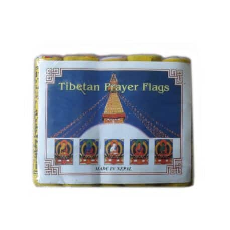 Drapeaux de prières bouddhistes tibétains - (0) Coton - Noir - 2353 Paquet