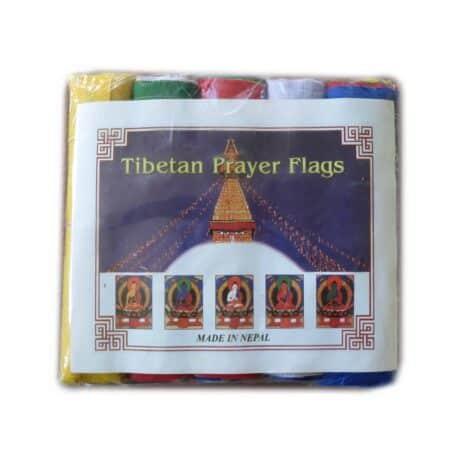 Drapeaux de prières bouddhistes tibétains - (A) Coton - Couleur - 4071 Paquet