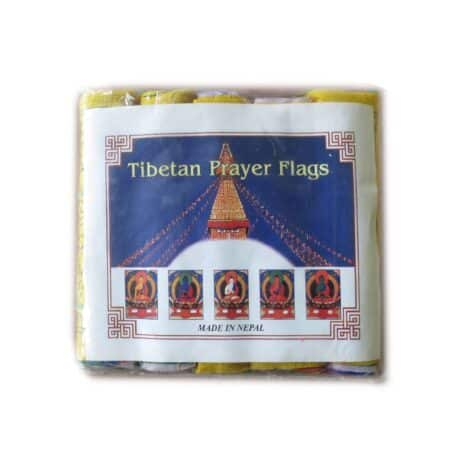 Drapeaux de prières bouddhistes tibétains - (A) Coton - Noir - 4063 Paquet
