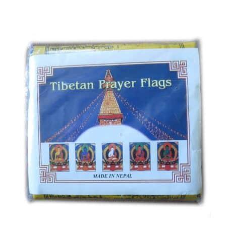 Drapeaux de prières bouddhistes tibétains - (B) Coton - Noir - 4066 Paquet 5pcs