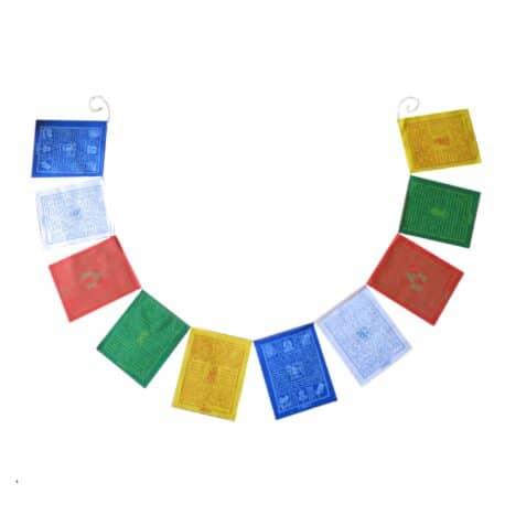 Drapeaux de prières bouddhistes tibétains - (C) Coton - Couleur - 4075 Ouvert