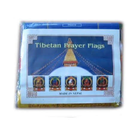 Drapeaux de prières bouddhistes tibétains - (C) Coton - Couleur - 4075 Paquet 5pcs