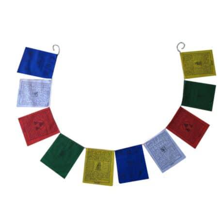 Drapeaux de prières bouddhistes tibétains - (C) Coton - Noir - 4067 Ouvert
