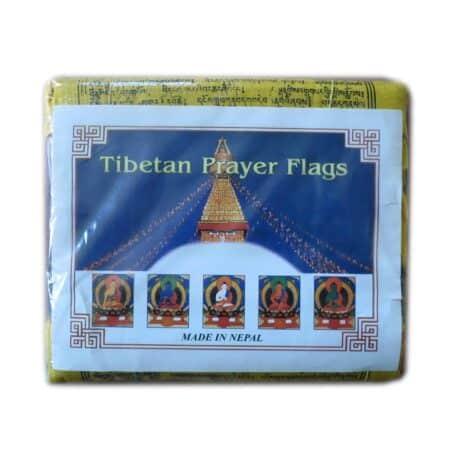 Drapeaux de prières bouddhistes tibétains - (C) Coton - Noir - 4067 Paquet 5pcs