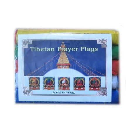 Drapeaux de prières bouddhistes tibétains - (D) Coton - Couleur - 4076 Paquet 5pcs