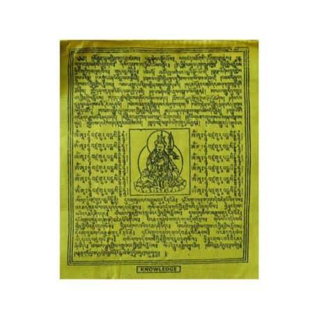 (B)-4077-1-Jaune-Drapeaux-de-prières-bouddhistes-tibétains