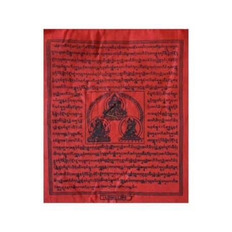 (B)-4077-3-Rouge-Drapeaux-de-prières-bouddhistes-tibétains