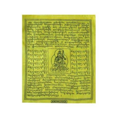 (C)-4078-1-Jaune-Drapeaux-de-prières-bouddhistes-tibétains