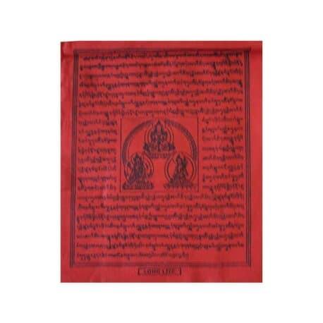 (C)-4078-3-Rouge-Drapeaux-de-prières-bouddhistes-tibétains