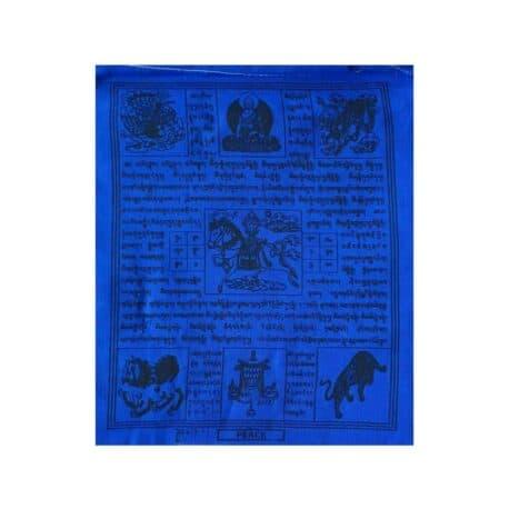 (C)-4078-5-Bleu-Drapeaux-de-prières-bouddhistes-tibétains