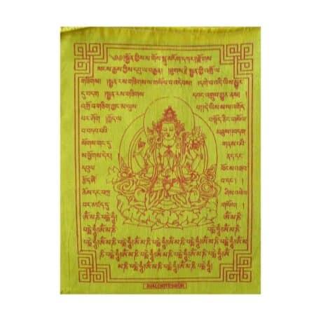 (C)-Avalokiteshvara-4084-1-Jaune-Drapeaux-de-prières-bouddhistes-tibétains