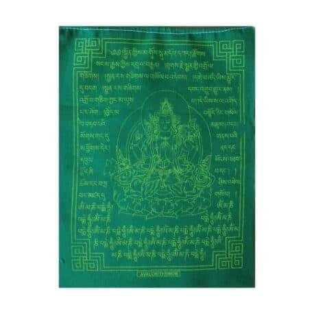 (C)-Avalokiteshvara-4084-2-Vert-Drapeaux-de-prières-bouddhistes-tibétains