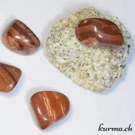 Jaspe Zébré – Stromatolite et Fer – Pierre roulée 2.5cm à 3.5cm – N°5488.1