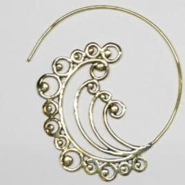 Design du Rajasthan - Boucles d'oreilles en Laiton - N°6890