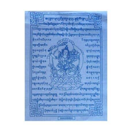 (C)-Manjushree-4083-4-Blanc-Drapeaux-de-prières-bouddhistes-tibétains
