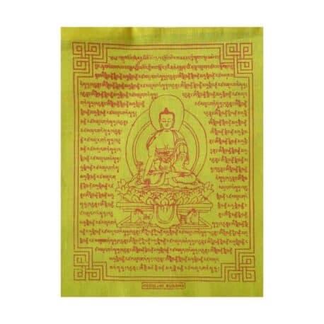 (C)-Medicine-Buddha-4082-1-Jaune-Drapeaux-de-prières-bouddhistes-tibétains