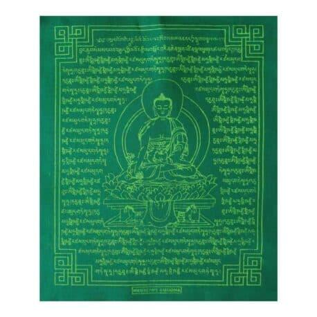 (C)-Medicine-Buddha-4082-2-Vert-Drapeaux-de-prières-bouddhistes-tibétains