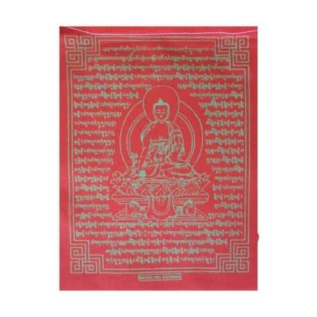 (C)-Medicine-Buddha-4082-3-Rouge-Drapeaux-de-prières-bouddhistes-tibétains