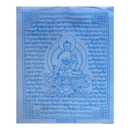(C)-Medicine-Buddha-4082-4-Blanc-Drapeaux-de-prières-bouddhistes-tibétains