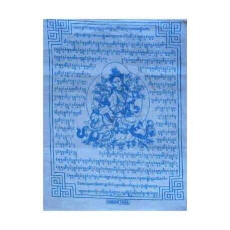 (C)-Tara-Verte-4080-4-Blanc-Drapeaux-de-prières-bouddhistes-tibétains