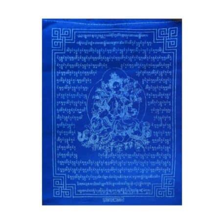 (C)-Tara-Verte-4080-5-Bleu-Drapeaux-de-prières-bouddhistes-tibétains