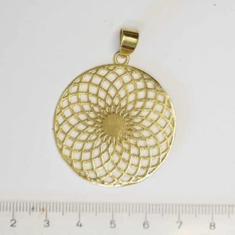 Sahasrara chakra couronne - Pendentif en Laiton - N°6740