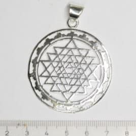 Pendentif-Laiton-N°6757-Sri Yantra