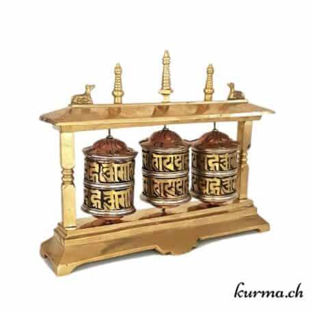 Moulins à prières tibétains 3 rouleaux