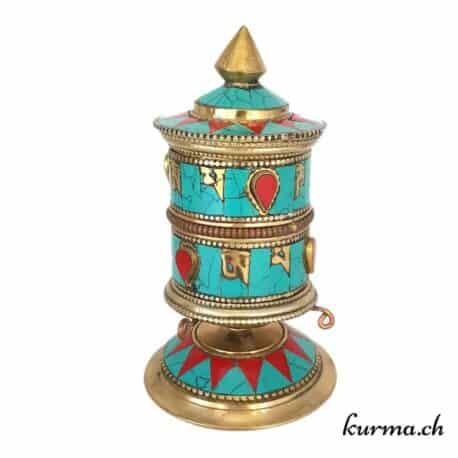 moulin à prière tibetain pour table