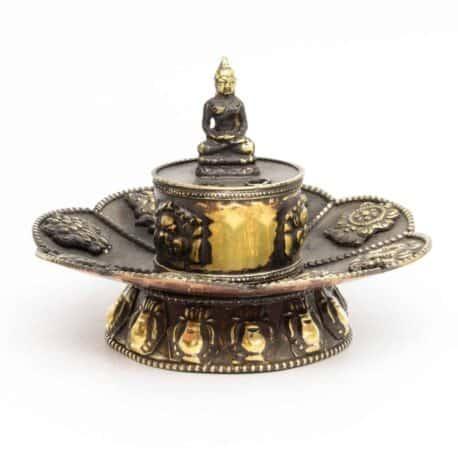 Porte-encens-en-métal-lotus-N°3917.1-111gr-7,5×10,5×10,5cm-2