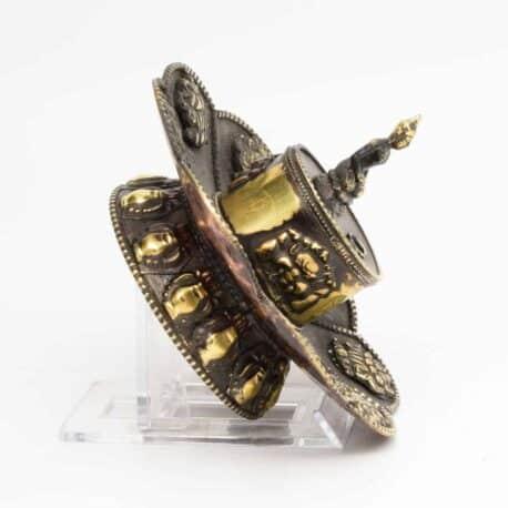 Porte-encens-en-métal-lotus-N°3917.1-111gr-7,5×10,5×10,5cm-5