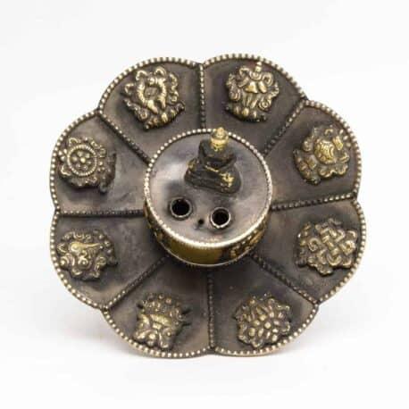 Porte-encens-en-métal-lotus-N°3917.1-111gr-7,5×10,5×10,5cm-6