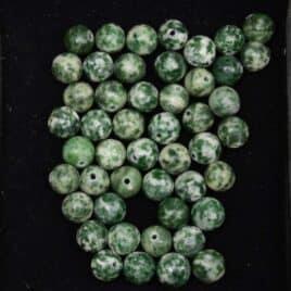 Agate arborisée – Perles 8.5mm – 44 pcs – N°10196
