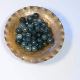Agate Mousse – Perles 8-8.5mm – 20 pcs – N°8086