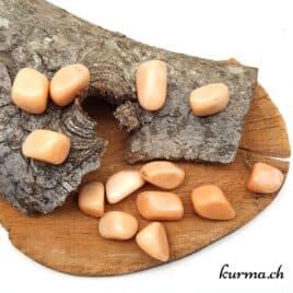 Aventurine Saumon – Pierre roulée 2.5cm à 3.5cm – N°7510.1