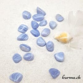 Calcédoine Bleue – Pierre roulée 2cm à 3cm – N°5471.1