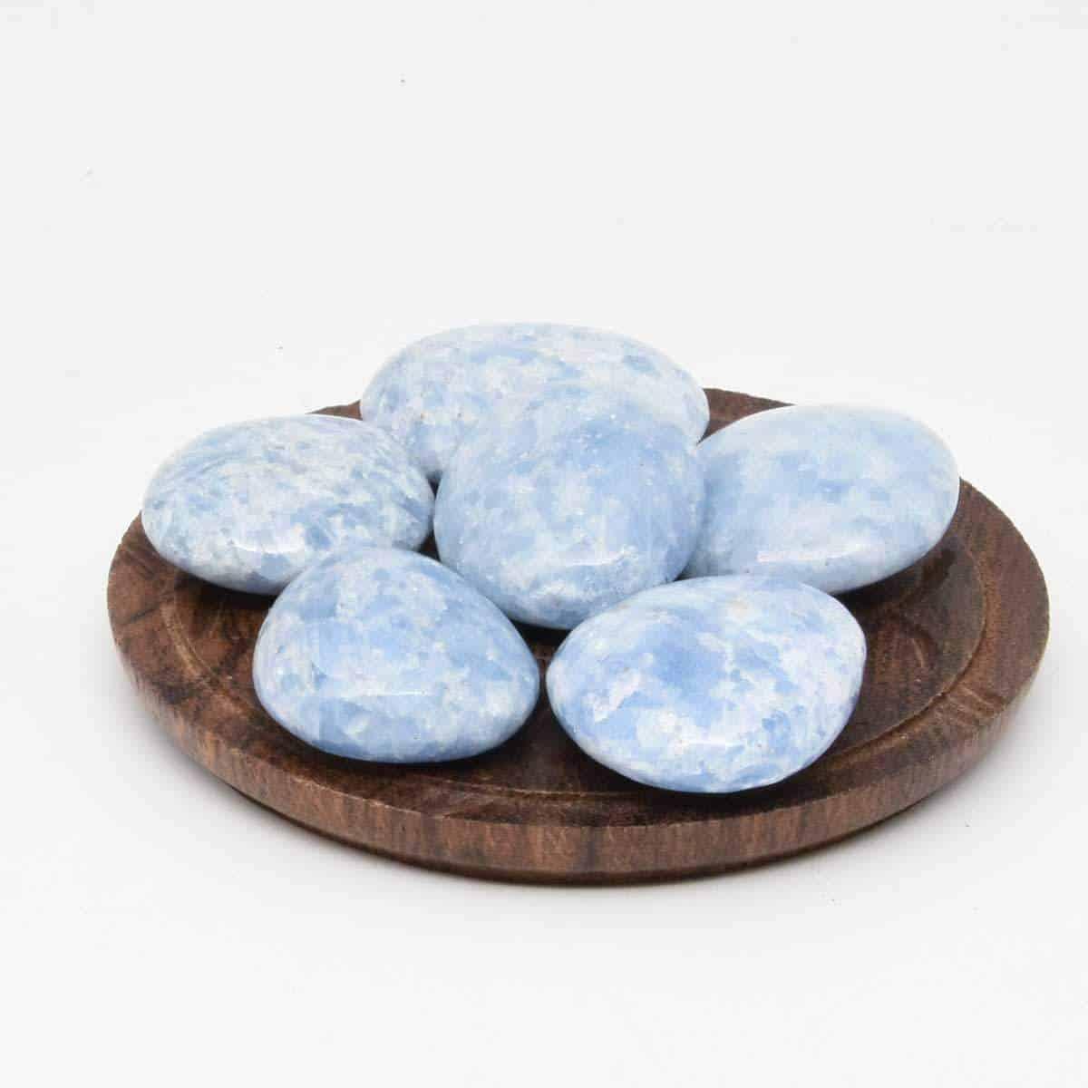 Calcite bleu en galet