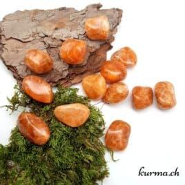 Calcite Orange – Pierre roulée 2cm à 3cm – N°5978.1