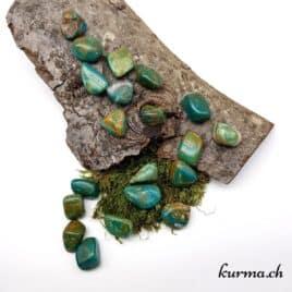 Chrysocolle Opaline – Pierre roulée 2.5cm à 3.5cm – N°7739.1