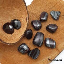 Ancestralite / Hématite – Jaspe rouge  – Pierre roulée 2.5cm à 3.5cm – N°5492.1