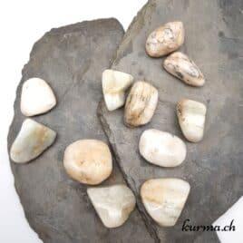 Hiddénite ou Kunzite Verte – Pierre roulée 3cm à 4cm – N°7877.2