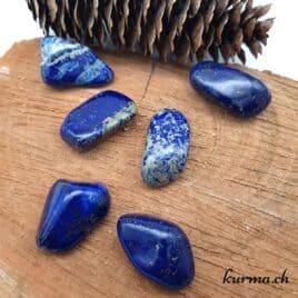 Lapis-Lazuli et Pyrite – Pierre roulée 3cm à 3.5cm – N°5469.1
