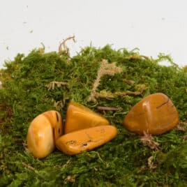 Mookaïte ou Jaspe Mookaïte Jaune – Pierre roulée 2.5cm à 3cm – N°7342.2