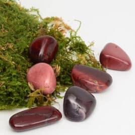 Mookaïte ou Jaspe Mookaïte Rouge – Pierre roulée 2.5cm à 3cm – N°7342.1