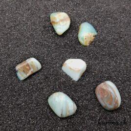 Opale des Andes Verte-Bleue – Pierre roulée 2cm à 3cm – N°8436.1