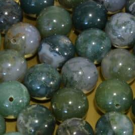 Agate Mousse – Perles 10-10.5mm – 35 pcs – N°8108
