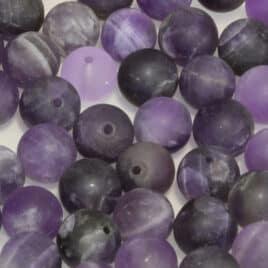perles Améthyste mate 8mm